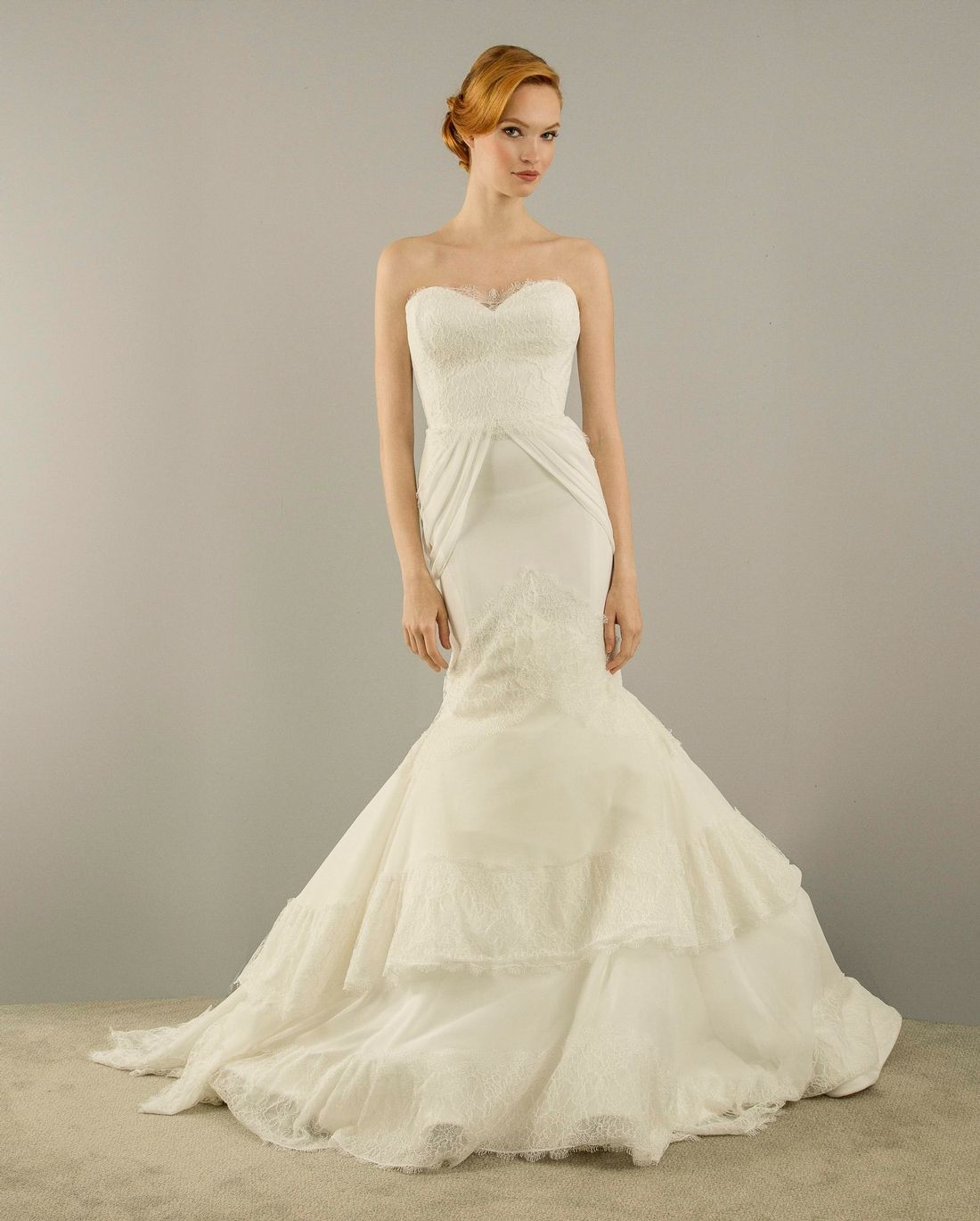 Wedding gown with red accents  KleinfeldBridal Christian Siriano Bridal Gown