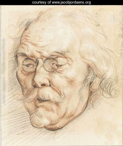 Head Of An Elderly Man (Adam Van Noort) - Jacob Jordaens.