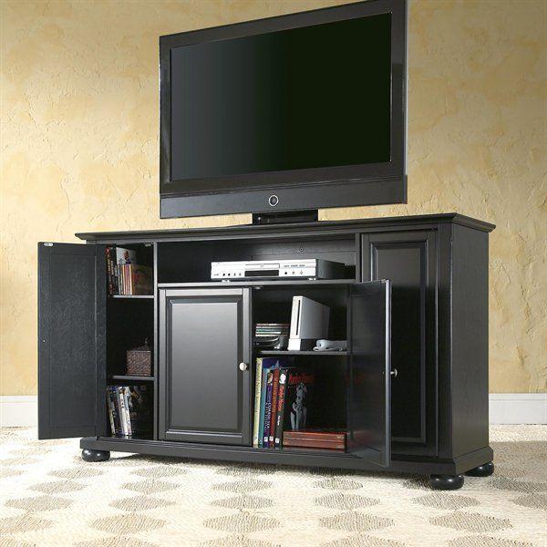 Crosley Furniture Kf10001a Alexandria Tv Stand Black Entertainment Centers Black Entertainment Tv Stand