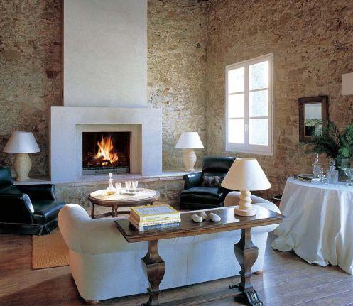 Chimeneas con estilo chimeneas de piedra piedra y con - Piedras para chimeneas ...