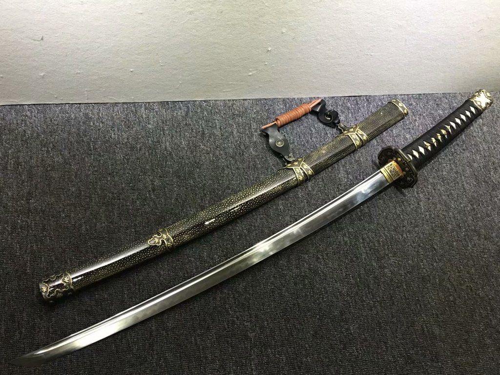 "NEW 40/"" Brown /& Black Carbon Steel Japanese Katana Sword w// Display Stand Anime"
