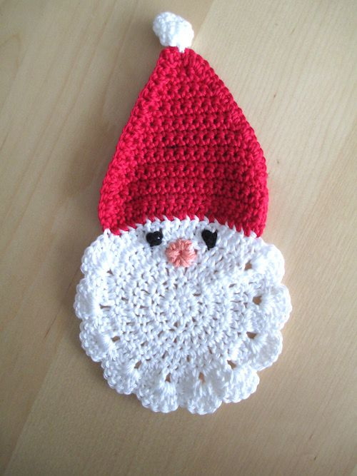 Kerstman Onderzetter Haken Christmas Crochet En Knitting