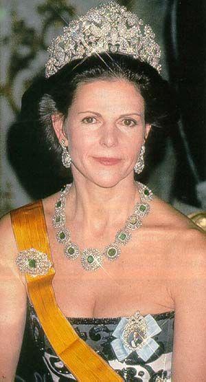 Reina Silvia de Suecia con la tiara Braganza