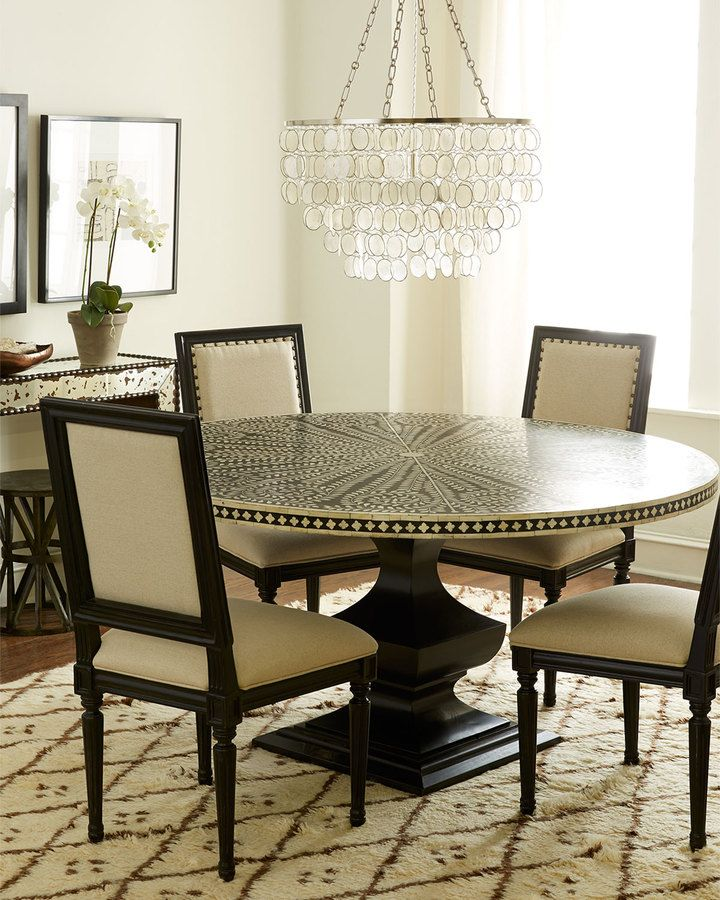 Bernhardt Vivian Inlay Dining Table  Contemporary Transitional Interesting Bernhardt Dining Room Set Decorating Design