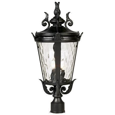 Casa Marseille 25 High Black 4 Light Outdoor Post 37767 Lamps Plus Outdoor Post Lights Lamp Post Lights Outdoor Light Fixtures