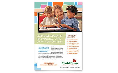 Child Care Flyers Templates \ Design Examples Graphic Design - microsoft templates brochures