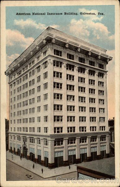 American National Insurance Building Galveston Galveston Texas Building