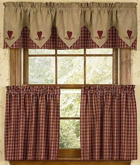 photo of cafe style curtains for kitchen