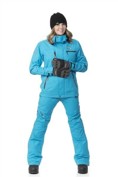 Emily is Wearing a DIVA'S Sky Blue Snowmobile Suit ~ Both Her Jacket & Pants.
