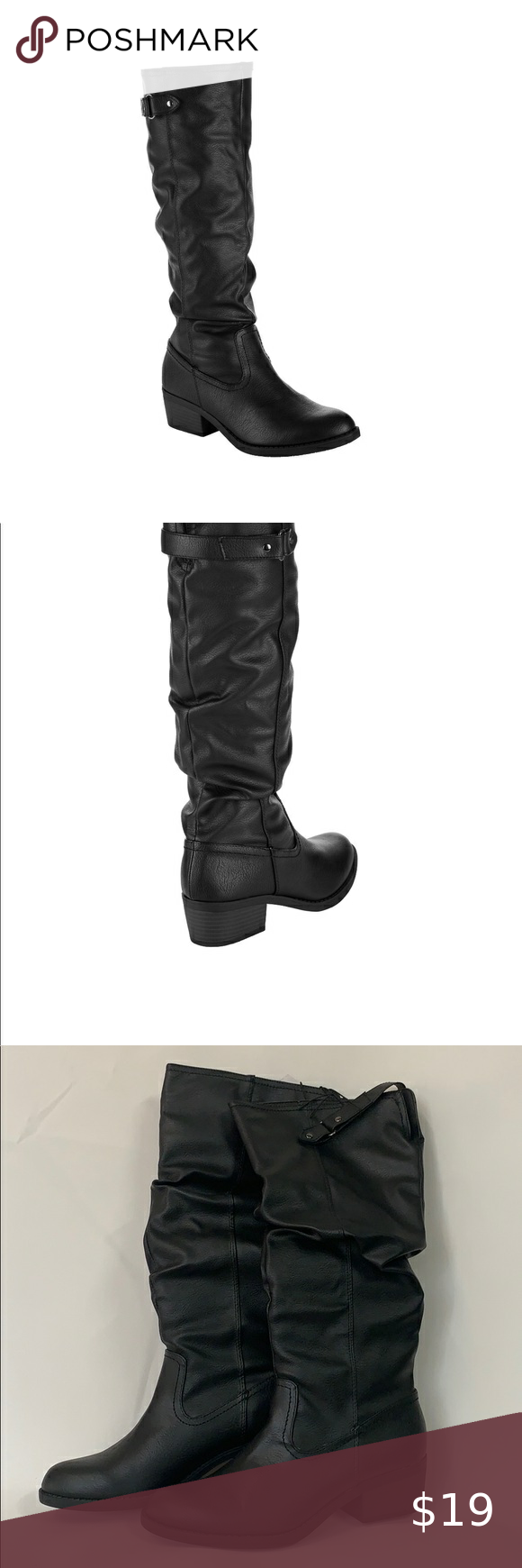 Women's Time and Tru Tall Slouch Boot Women's Time