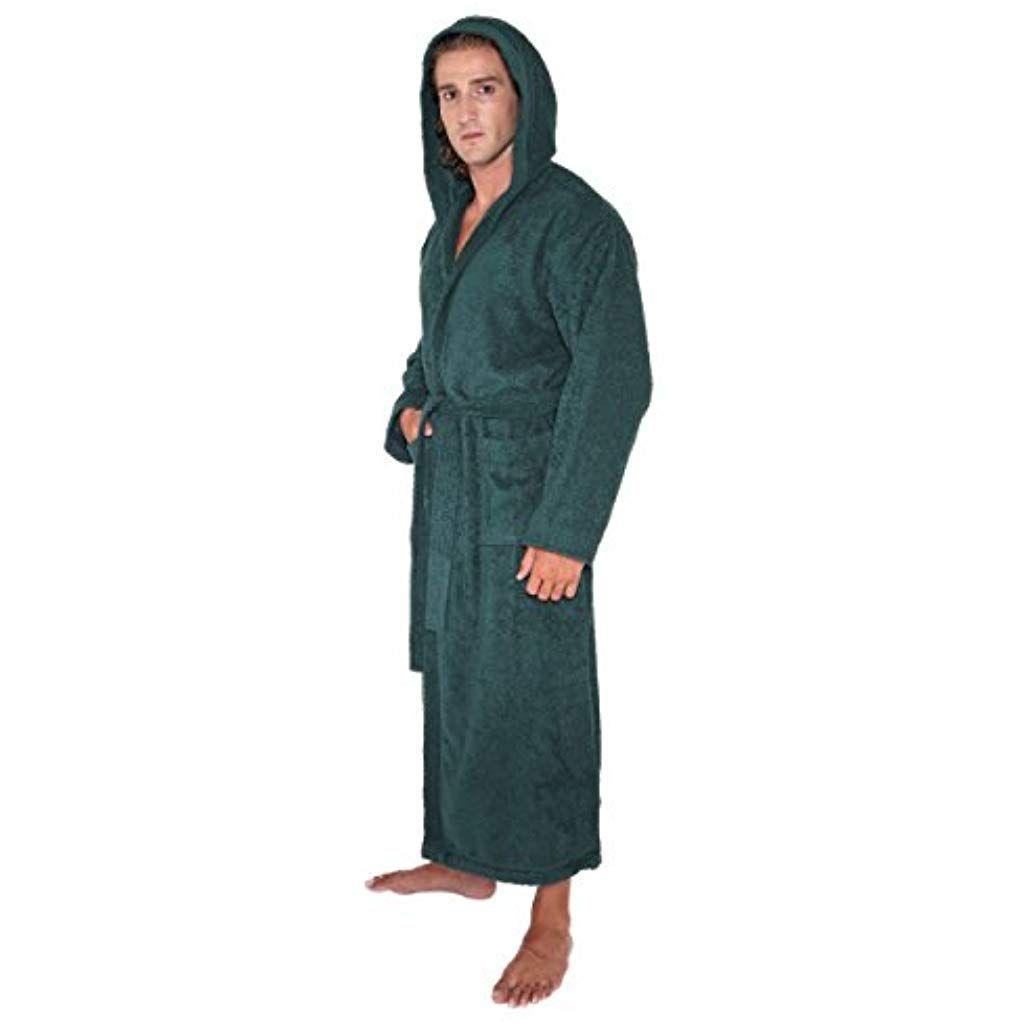 33f315aa22ef9 Arus Pacific - Peignoir de bain en éponge à capuche extra-long pour femme/