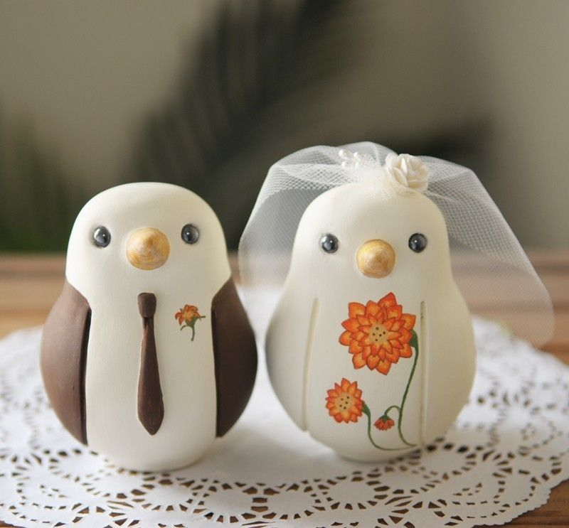 cute bird cake toppers
