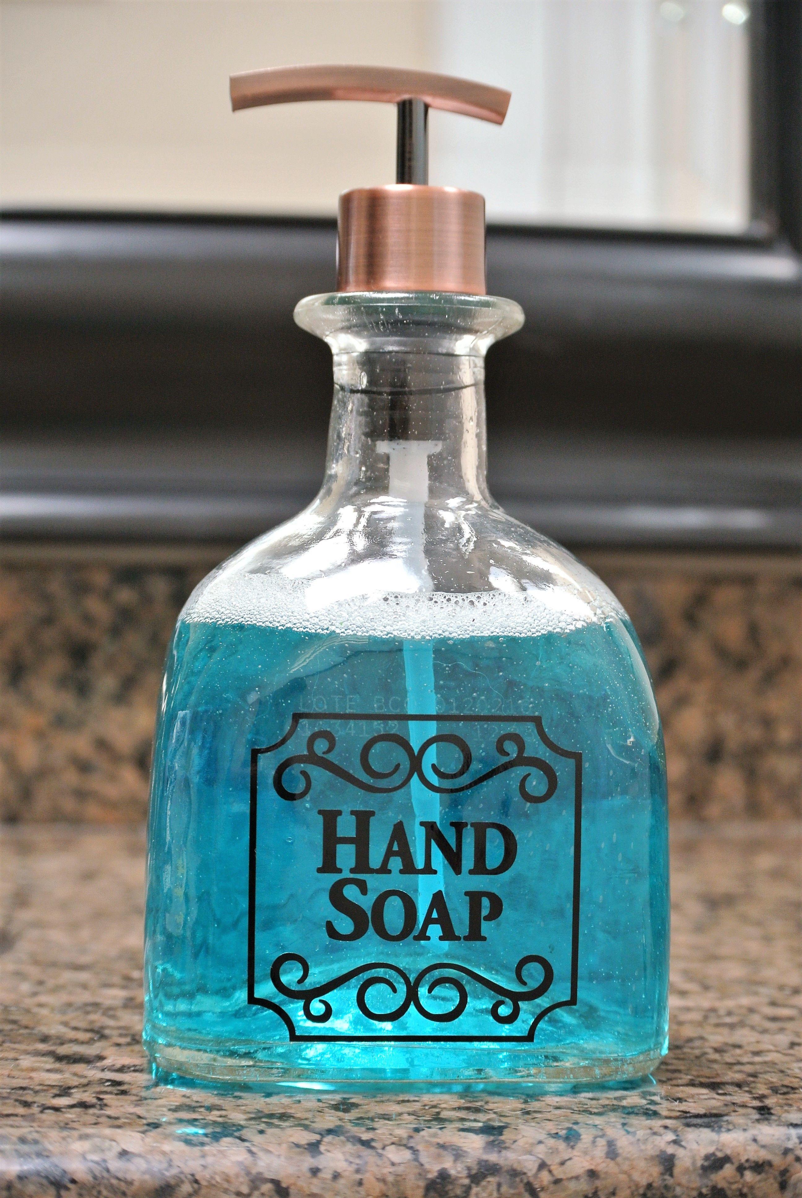 Patron Silver tequila glass bathroom soap or kitchen soap dispenser ...