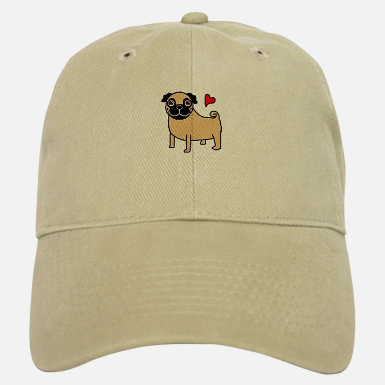 Fawn Pug Love Baseball Cap for  c6713f11161