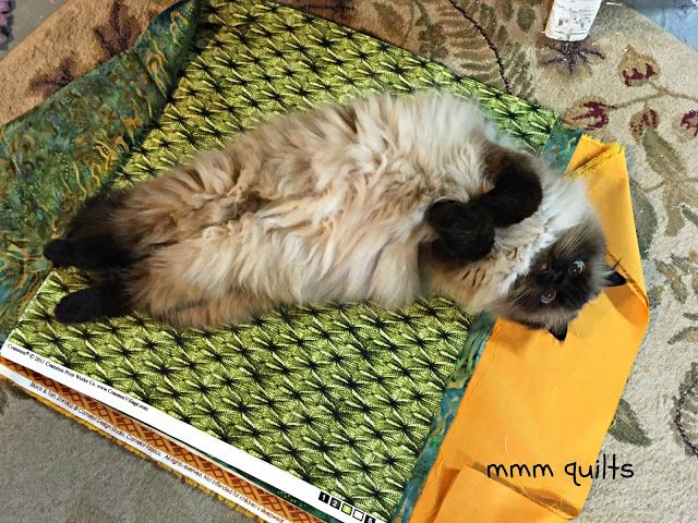 Musings of a Menopausal Melon - mmm quilts: WIP - Shift.  Pet the fabric and Pet the kitty?