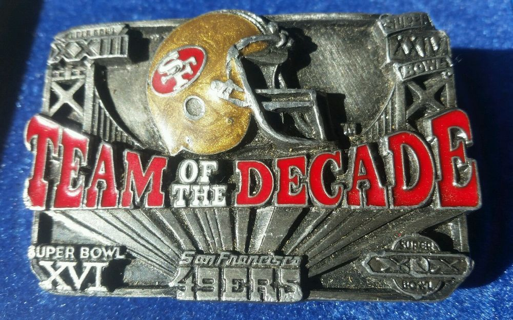 cedf3dcf Details about Papel San Francisco 49ers Vintage Team Of The Decade ...