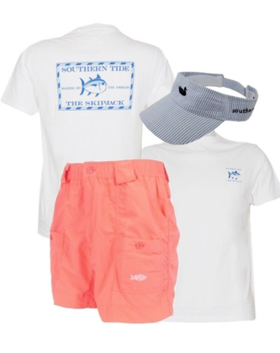 0205d9f8ba70 Toddler thru Adult Boy's AFTCO Shorts | Southern Tide Youth Skipjack Tee |  Southern Marsh Visor | Follow @coveyhouse on Instagram . We ship!!