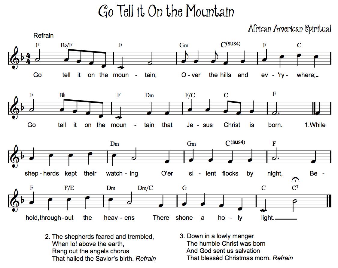 god on the mountain sheet music pdf