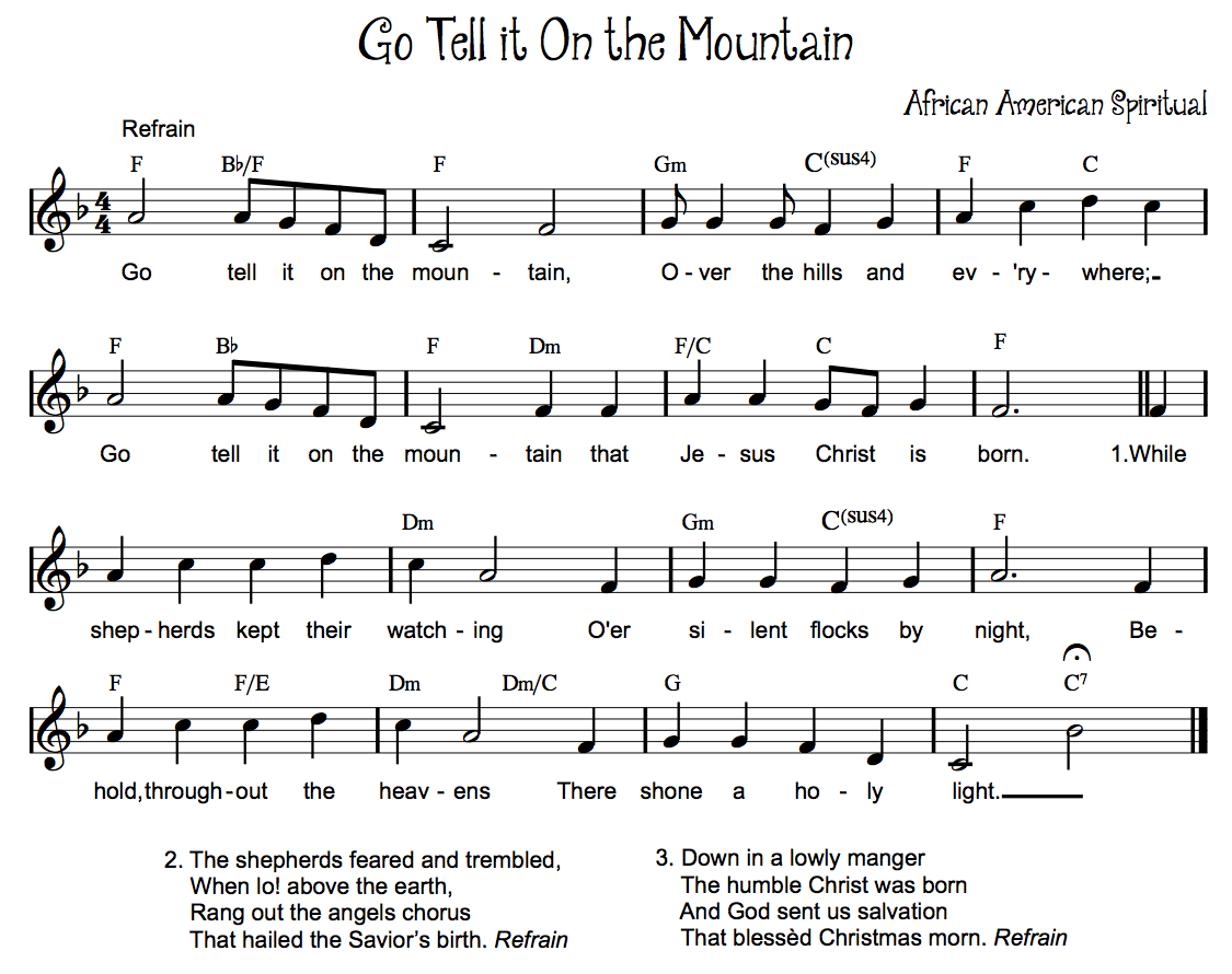 Beth S Music Notes Go Tell It On The Mountain