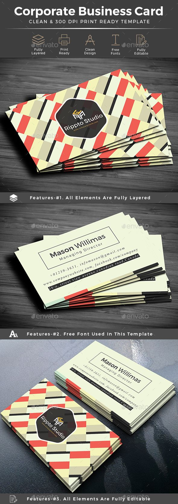 Creative corporate business card Business cards