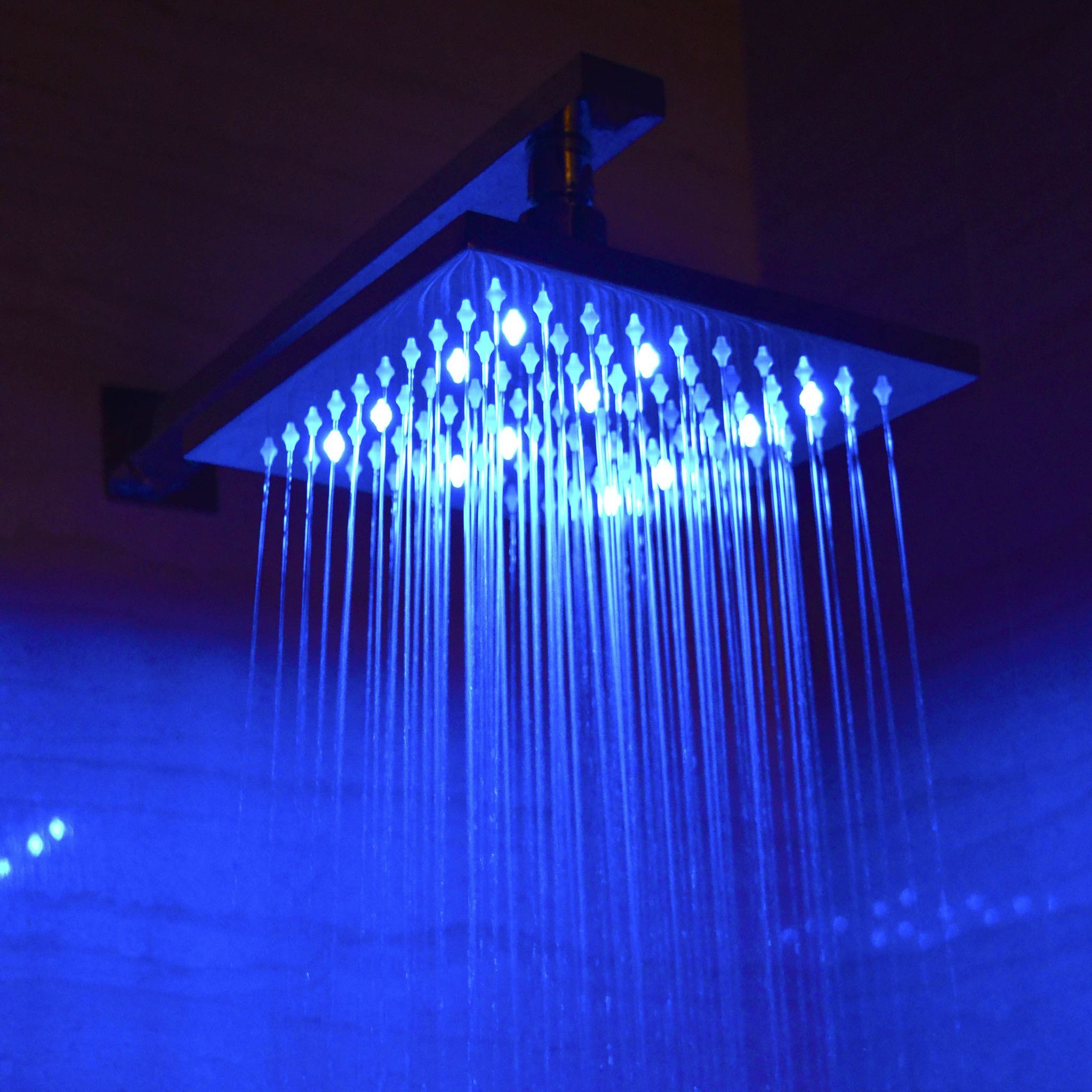 Alfi Brand Led5001 8 Square Multi Color Led Rain Shower Head