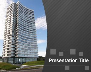 free architect powerpoint template with apartment in the slide