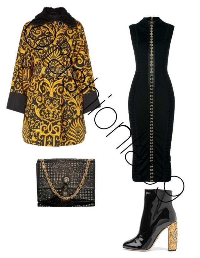 """""""Untitled #1524"""" by fashionlab9 on Polyvore featuring Versace, Balmain and Dolce&Gabbana"""