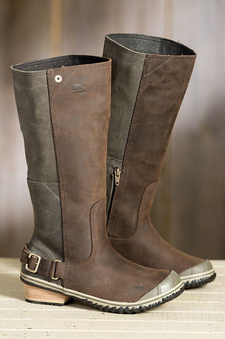 ba951291c68c Women s Sorel Slimboot Waterproof Leather Boots