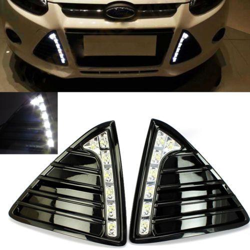 2x White Led Fog Light Driving Bulb Lamp Drl 7 Smd Fit For Ford Focus 2012 2014 Ford Focus Led Fog Lights Ford Focus Sedan