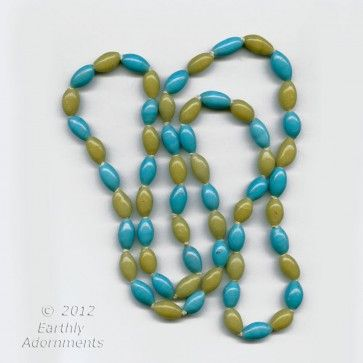 Vintage necklace of old rare Chinese Peking glass beads