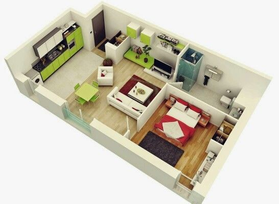 Simple But Classy 1 Bedroom House Plans One Bedroom House Studio Apartment Floor Plans