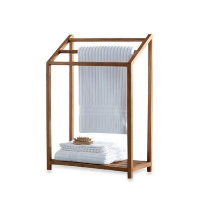 Buy Teak Towel Rack From Bed Bath Beyond Master Renovation
