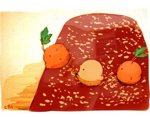 あああああ ニンジンとくるみ スパイスを煮込んで煮詰めて固めたトルコのお菓子 すいーとり画集 7月26日発売です 予約受付中ですー Http Www Amazon Co Jp Exec O すいーとり ペットフード 食べ物 イラスト