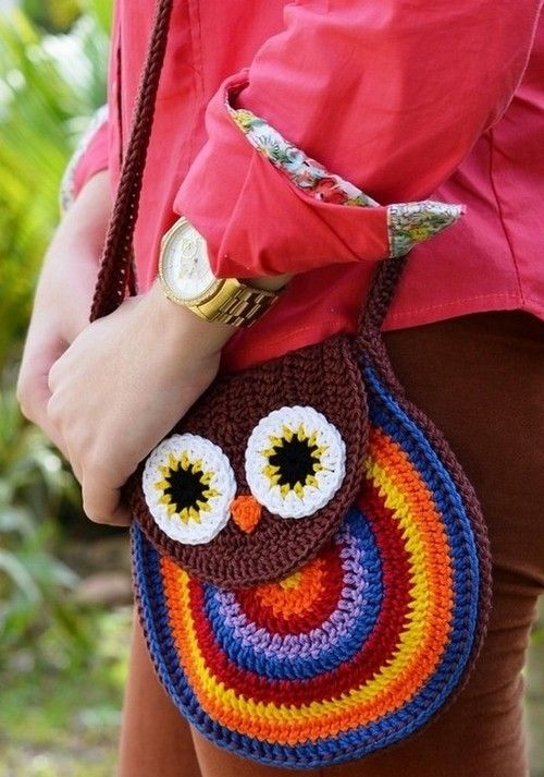 Bolso de lechuza crochet | Crochet & crossing stich | Pinterest ...