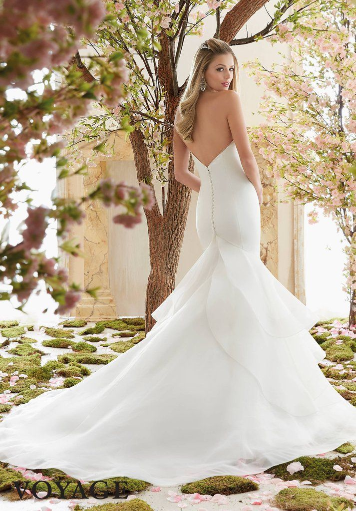 Mermaid Wedding Dress with Ruffle Skirt