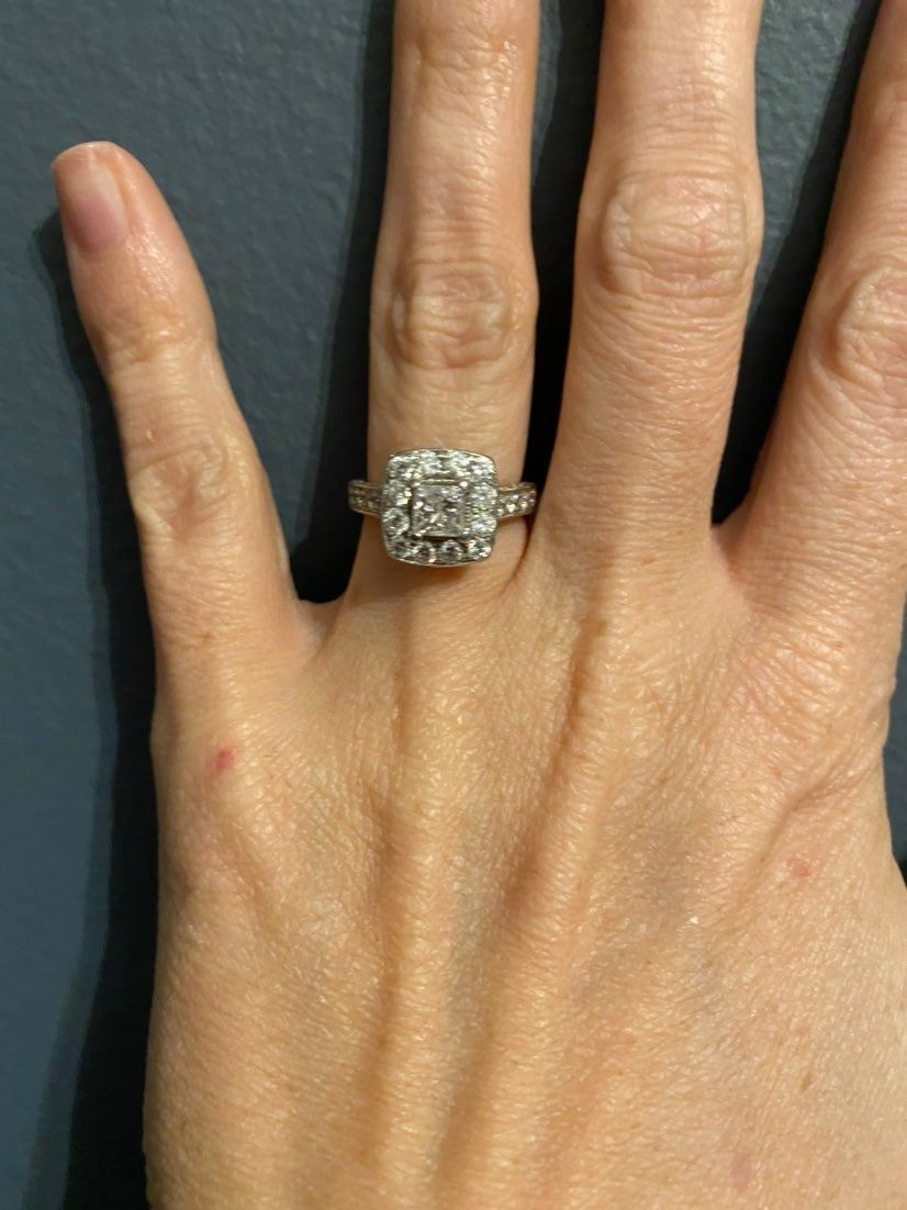 1 5 Ct Total Weight Center Stone Is 75 Ct Approx Kays Says 75 Item Sku 0803 White Gold Diamond Engagement Ring Kay Jewelers Rings Diamond Engagement Rings