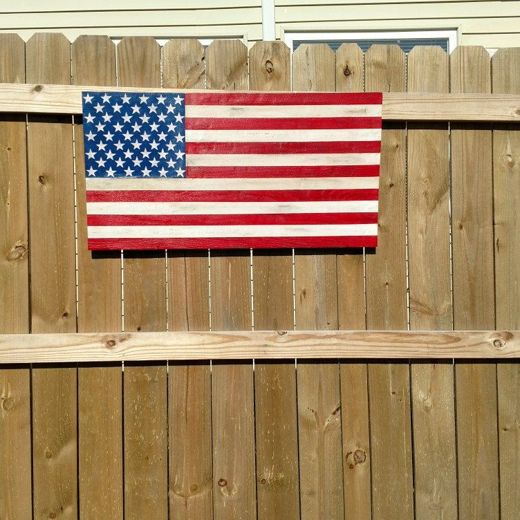 New solid OAK American Flag just in time for Memorial Day!!