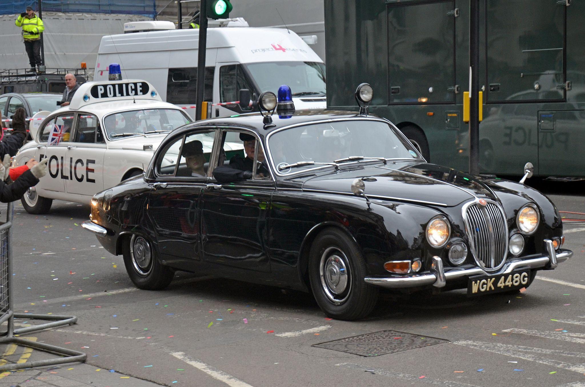 1968 Jaguar S Type Police Car Police Cars Old Police Cars British Police Cars