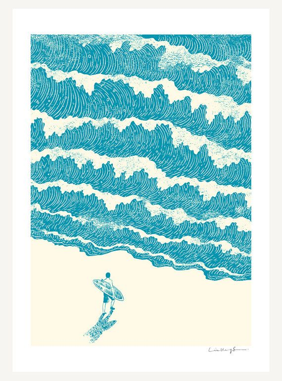 """to the sea"" art print of an illustration by Lim Heng Swee"
