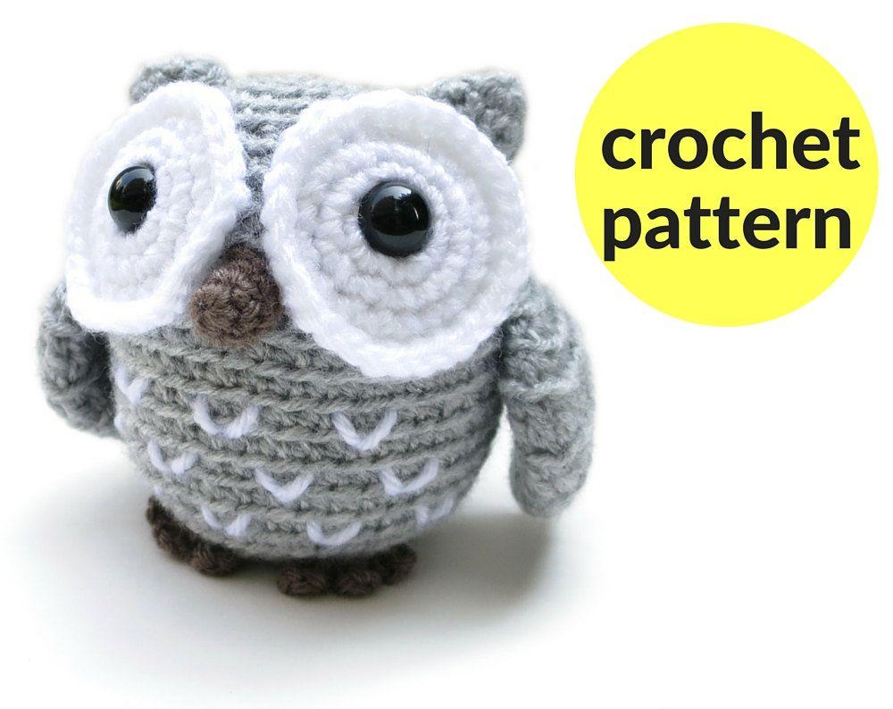 Popular items for crochet pattern owl on Etsy