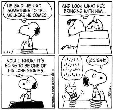 Snoopy and Woodstock...conversations.