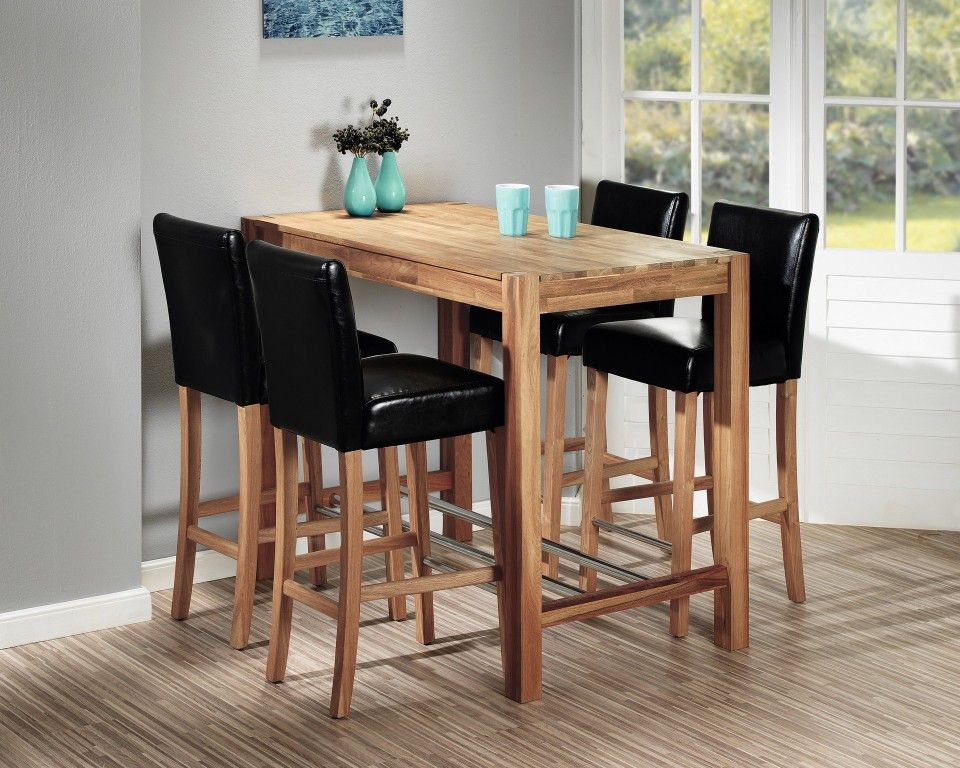 Tavolo da bar bogart 70 x 115 cm tavoli mobili per for Tavoli per cucina in legno
