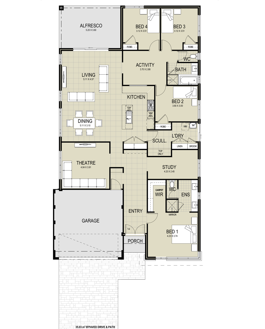 Floor Plans Of Bravo By New Choice Homes House Plans Australia House Plans Floor Plans