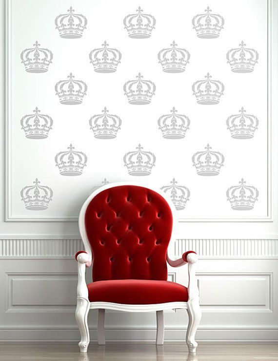 red velvet chair for the love of chairs crown stencil rh pinterest com