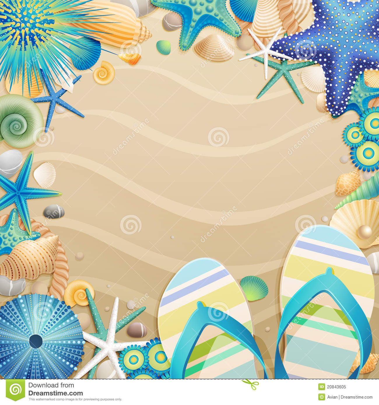 c13629ed5a26 free clipart images of flip flops on the beach - Google Search ...