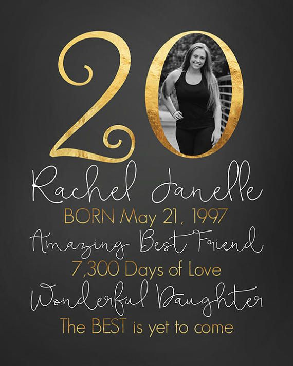 20th Birthday Gift Personalized Gift for by WanderingFables