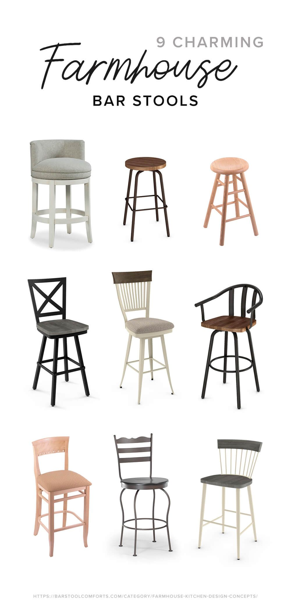 9 Charming Farmhouse Bar Stools For 2019 Farmhouse Style Bar