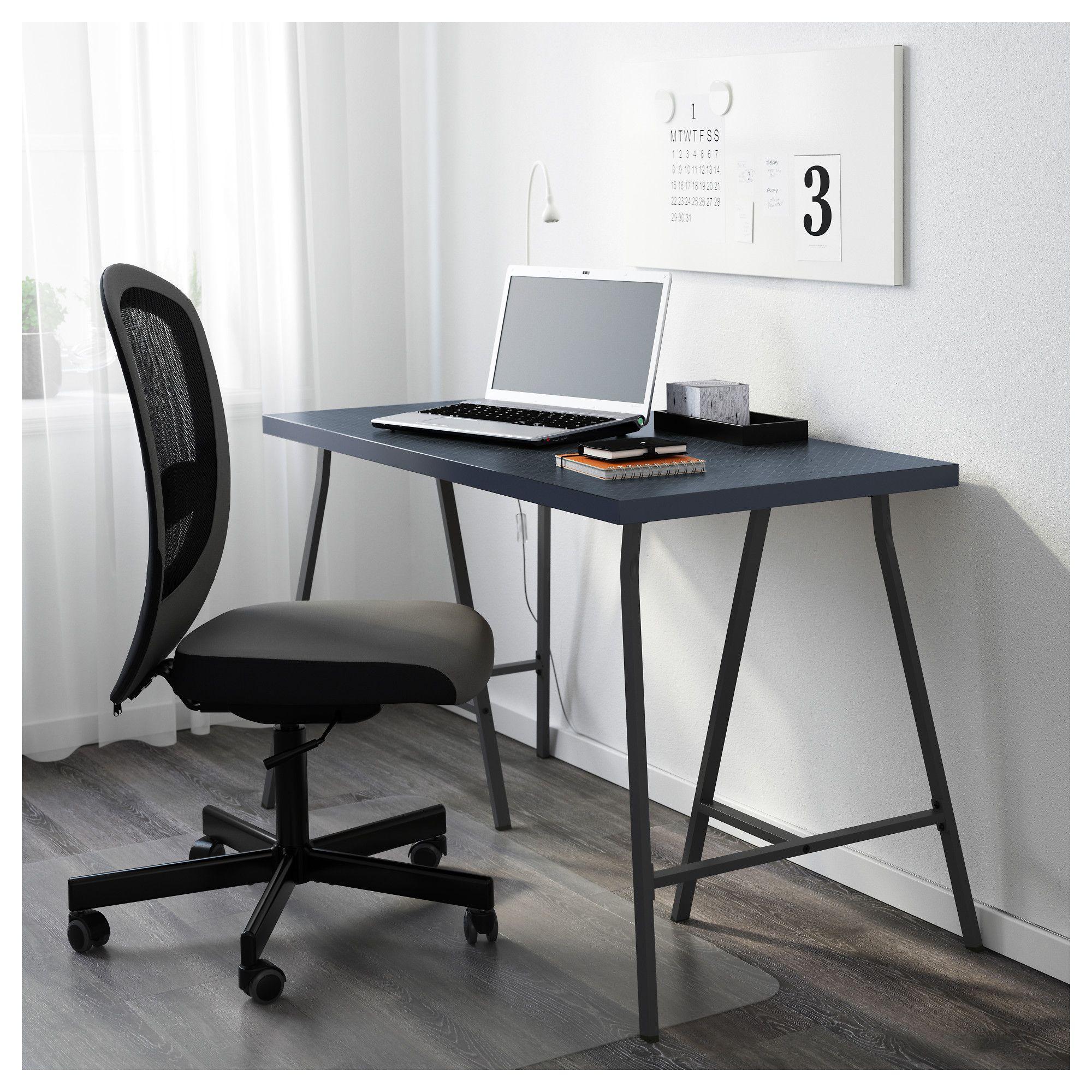Ikea  Linnmon Lerberg Table Geometric Blue, Gray