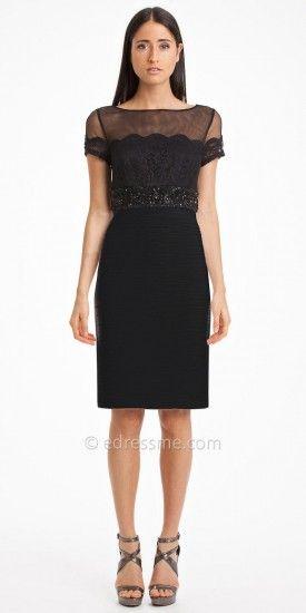 Mesh Lace Jersey Cocktail Dress by JS Boutique #edressme | JS ...