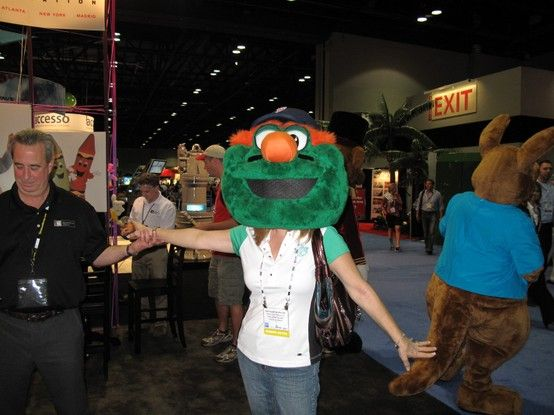 Me at the IAAPA trade show in Orlando, FL. Checking out a mascot booth. Always wondered what it would be like to look like a mascot.
